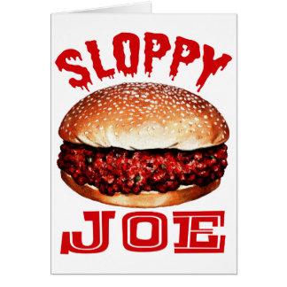 Joe descuidado tarjeta de felicitación