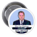 Joe Dobrian for NYC Mayor 2013 Pinback Button