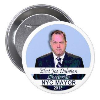 Joe Dobrian para el alcalde 2013 de NYC Pins