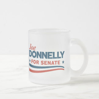 Joe Donnelly for Senate Frosted Glass Coffee Mug