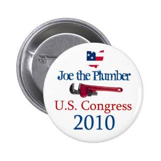 Joe el congreso 2010 de los E.E.U.U. del fontanero Pin Redondo De 2 Pulgadas
