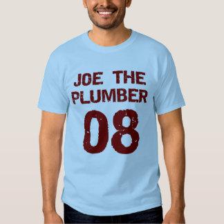 Joe el fontanero 08 (estilo del jersey de los depo playeras