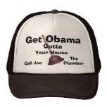 Joe el fontanero Casquillo-Consigue a Obama Outta. Gorros Bordados