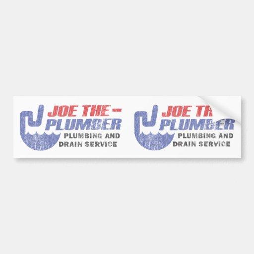 Joe el fontanero - la fontanería y el dren mantien pegatina para auto