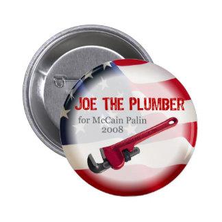 Joe el fontanero para el botón de McCain Pin Redondo De 2 Pulgadas