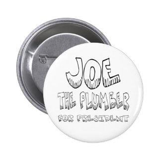 Joe el fontanero para los pres - botón pin redondo de 2 pulgadas
