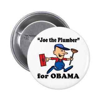 Joe el fontanero para Obama Pin