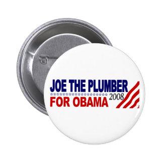 Joe el fontanero para Obama Pin Redondo De 2 Pulgadas