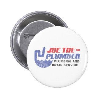 Joe el fontanero pin redondo de 2 pulgadas