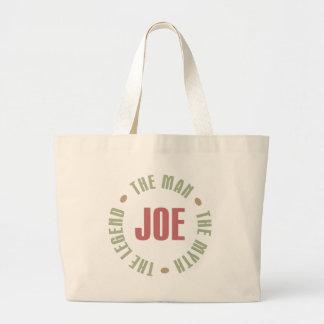 Joe el hombre el mito la leyenda junta con te los  bolsa tela grande