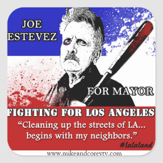 Joe Estevez for Mayor Stickers