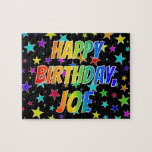"[ Thumbnail: ""Joe"" First Name, Fun ""Happy Birthday"" Jigsaw Puzzle ]"