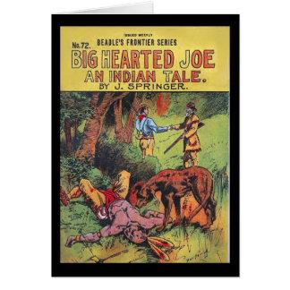 Joe Hearted grande - un cuento indio - alguacil Tarjeta De Felicitación