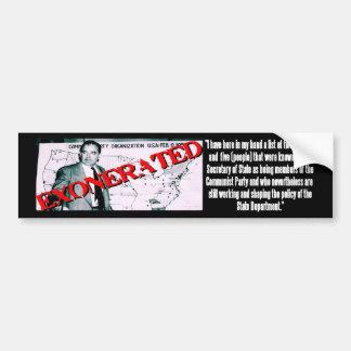 Joe Is Exonerated Bumper Sticker