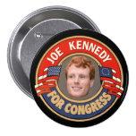 Joe Kennedy para el congreso 2014 Pins