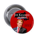 Joe Kennedy para el rojo del congreso Pin Redondo 5 Cm