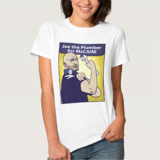 Joe la camiseta del fontanero playeras