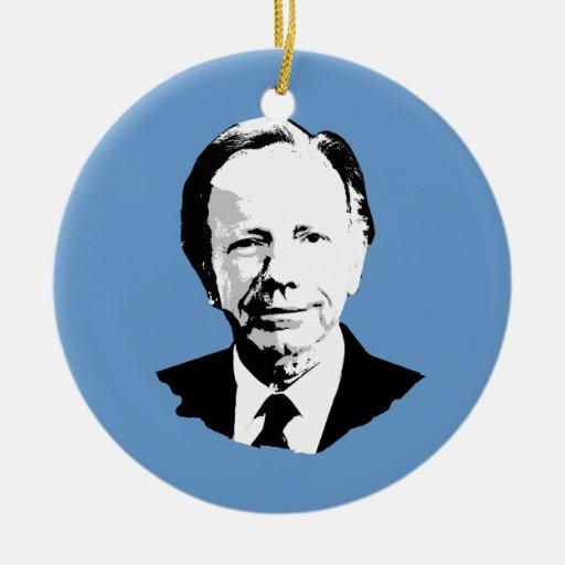 Joe Lieberman Double-Sided Ceramic Round Christmas Ornament