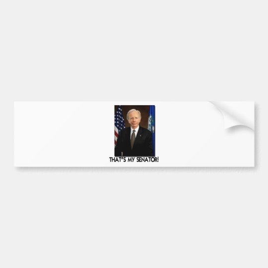 Joe Lieberman, That's My Senator! Bumper Sticker