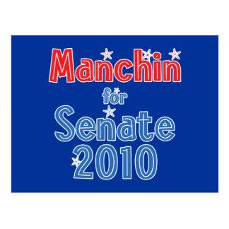 Joe Manchin para el diseño de la estrella del Postal