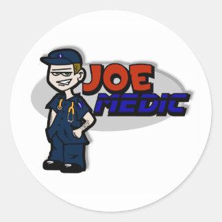 Joe Medic Paramedic Gifts Classic Round Sticker