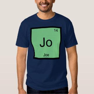 Joe  Name Chemistry Element Periodic Table T Shirt