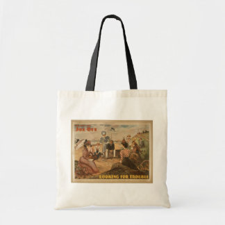 Joe Ott,'Looking For Trouble' Retro Theater Budget Tote Bag