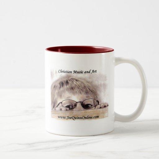 Joe Quinn Online logo coffee mug Two-Tone Mug