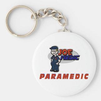 Joe Red Paramedic Basic Round Button Keychain
