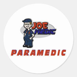 Joe Red Paramedic Classic Round Sticker