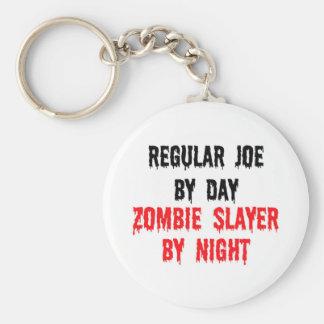 Joe regular del asesino del zombi del día por llavero redondo tipo pin