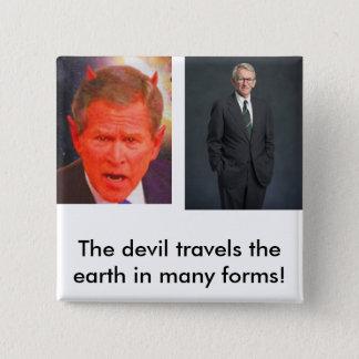 joe riley, SATAN, The devil travel... - Customized Button