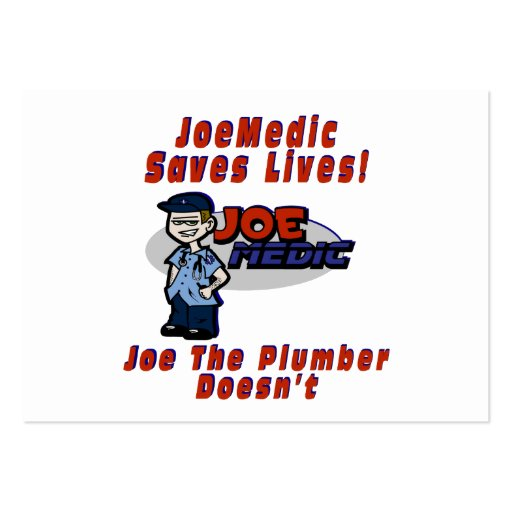 Joe Saves Lives Large Business Cards (Pack Of 100)