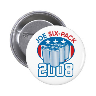 Joe Six-Pack 2008 Button