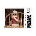 Joe Sock Monkey USPS Postage Stamp..