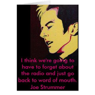 Joe Strummer la tarjeta de felicitación en blanco