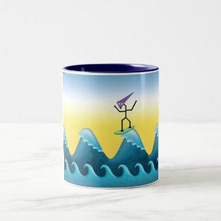 Joe Surfer Two-Tone Coffee Mug
