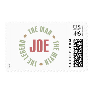 Joe The Man The Myth The Legend Tees Gifts Postage Stamps