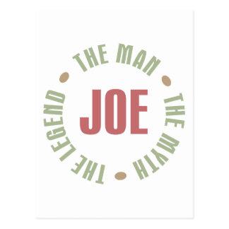 Joe The Man The Myth The Legend Tees Gifts Postcard