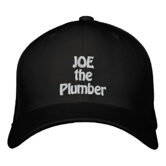 JOE the Plumber Embroidered Baseball Hat