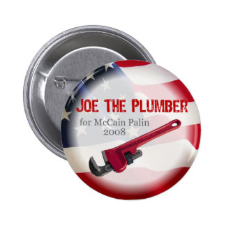 Joe the Plumber for McCain Button