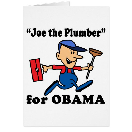 Joe the Plumber for Obama Card