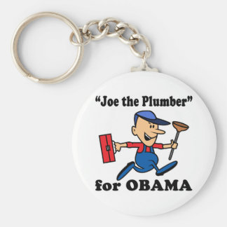 Joe the Plumber for Obama Basic Round Button Keychain