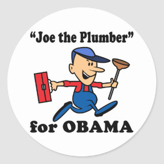 Joe the Plumber for Obama Round Stickers