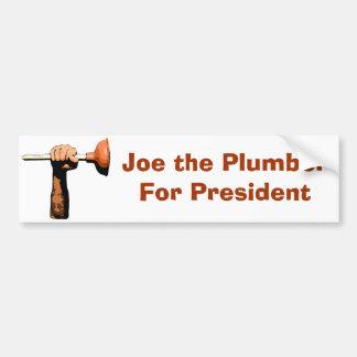 Joe the Plumber For President Car Bumper Sticker