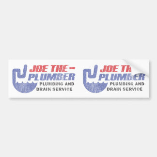 Joe The Plumber - Plumbing and Drain Service Car Bumper Sticker