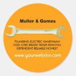 Joe The Plumber Round Stickers