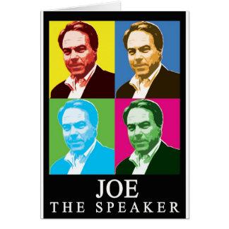 Joe The Speaker (Black Background) Card