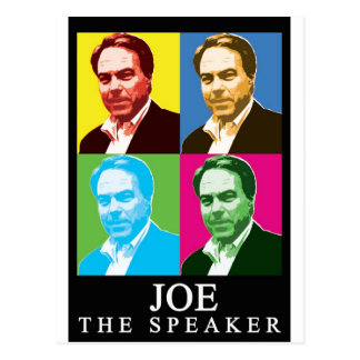 Joe The Speaker (Black Background) Postcard