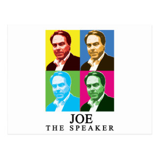 Joe The Speaker (With Title) Postcard